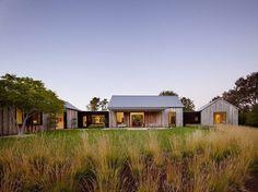 Portola Valley Barn Featuring a Rustic Exterior in Contrast with Contemporary Interior