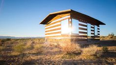 lucidstead shack #desert #architecture #mirror #art