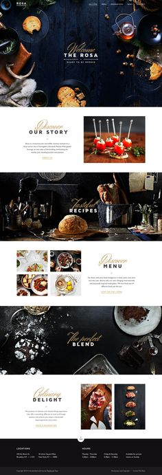 Rosa Template #design #web
