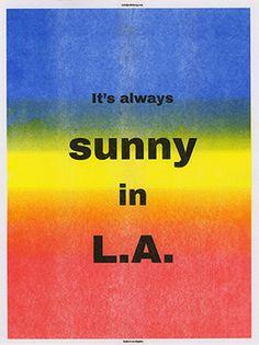 Sunny in LA Poster by Eddie Bong  http://www.eddiebong.com