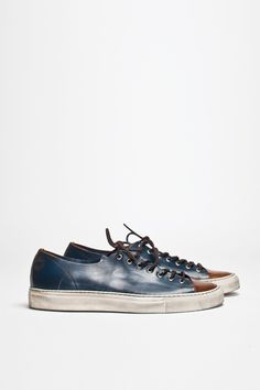 Buttero Tanino Low Leather Two Tone | TRÈS BIEN #shoes #italian #sneakers #leather #buttero