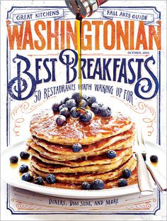 The Society of Publication Designers named my cover for the October 2012 issue of the Washingtonian Cover of the Day! Awesome! #pancakes #jon #contino #drawn #hand #typography
