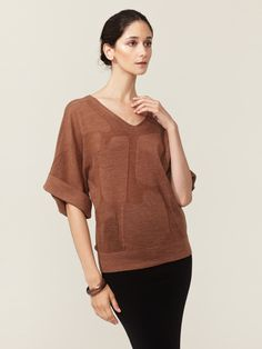 M. Patmos Abstract Dolman Pullover #fashion #abstract #brown #sweater