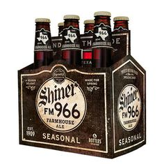 Shiner FM 966 Farmhouse Ale #packaging #beer #label #bottle