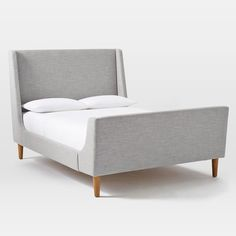 West Elm upholstered-sleigh-bed