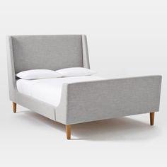 West Elm upholstered-sleigh-bed