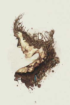 Projects 2008 2012 on Behance #digital #illustration #bloodroot #art #collapse #she #female