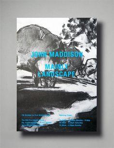 John Maddison - Mainly Lanscpape #design #graphic