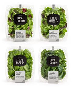 Local Garden packaging #packaging #salad #food