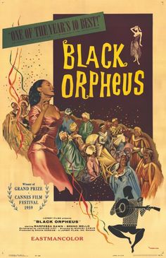 Black Orpheus: A Superficial Voyage through a Brazilian Shantytown #movie #lettering #black #poster #orpheus #typography
