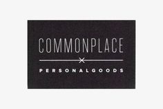 Commonplace by Rowan Made #graphic design #business card