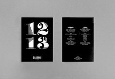 Gabbani : DEMIAN CONRAD DESIGN #numbers #layout #luxury #black