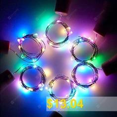 ZDM #6PCS #2M #LED #Wine #Bottle #Stopper #Cork #Copper #Wire #Multicolor #Silver #Line #Lamp #- #MULTI-A