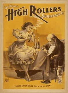 Posters for Burlesque Shows, 1890s | Retronaut #1890s #posters #for #burlesque #shows