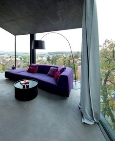 Trubel House by L3P Architekten trubel house purple sofa #sofa #design #upholstered #furniture