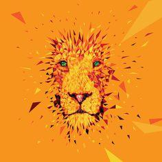 Vector Lion #lion #yellow #orange #illustration #art #face