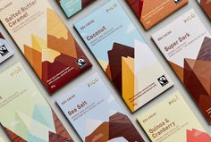 Chocolate Bar wrappers. Package design.