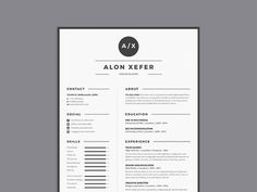 Free Modern Elegant Resume Template in Multiple Format (PSD, AI, DOC, EPS)
