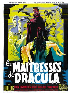 Les Maitress of Dracula horror movie poster #pulp
