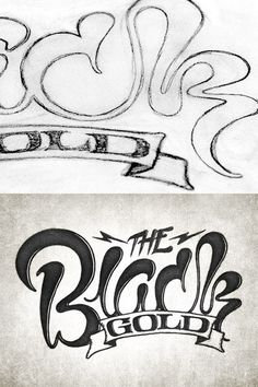 The Black Gold by Simon Alander #inspiration #creative #lettered #personalized #design #illustration #logo #hand