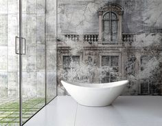 Wall Covering Suitable to Bathrooms - InteriorZine #bath #interior #decor