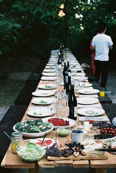 Dinner #dinner #banquet #backyard #food