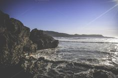 Rocky Beach ~ Nature Photos on Creative Market #ocean #beach #coast