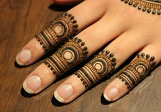 attractive finger rings mehndi designs
