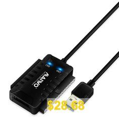 Maiwo #K132U3IS #USB #3.0 #to #IDE #/ #SATA #Converter #External #Hard #Drive #Adapter #- #BLACK