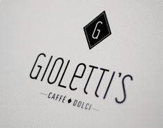 Gioletti's visual identity. Fictitious. #typography #logo #coffee #visual identity #italian