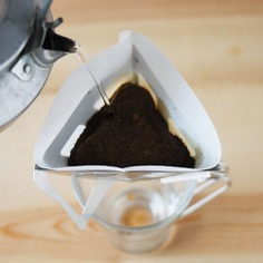 The Tetra Coffee Drip is a unique brewer that allows users to make coffee anywhere, anytime. When disassembled, the drip is only 1mm thick and is very lightweight. It is simple to put together and securely sits atop various cups and mugs. Designed and made in Japan.