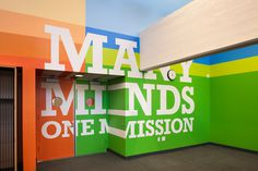 Achievement First Endeavor Middle School on Behance #interior #type #wall #graphics