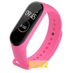Sport #Strap #Watch #Silicone #Wrist #Strap #For #Xiaomi #Mi #Band #3/4 #- #PINK