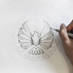 Eagle logo sketch version