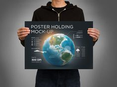 Poster Holding Mock up