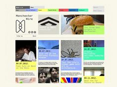 Manchester Wire | Bitique #digital #design #web