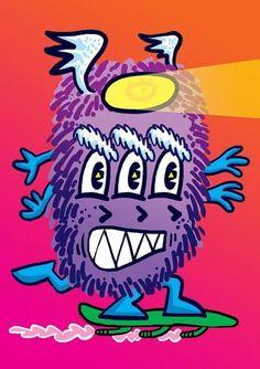 Fábio Tenório aka BIRITA » Monster 7955 #monsters #illustration #poster #birita