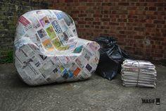 Paper Mache #sofa