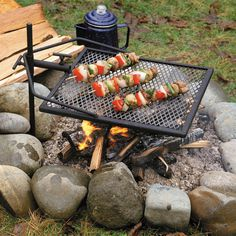 The Adjust-a-Grill is a portable grill that is easy, simple, and strong. Carry this device camping, and showcase your grilling skills in the