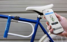 The world's first-ever shareable bike lock can be unlocked by any authorized smartphone. #design #gadget #travel #product #technology