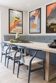 Highgate Hill Townhouse, LLI Design, Kitchen - dining area