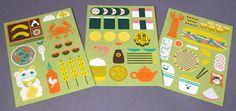 Asian food illustrations #asia #print #food #illustration