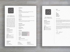 Appleseed Resume - Free Clean Minimal Resume Template with Cover Letter
