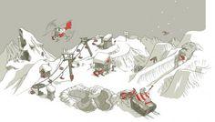tumblr_m0vqd1U8al1qbkntmo1_1280.png (PNG Image, 1280x727 pixels) #illustration #snowboard #ski