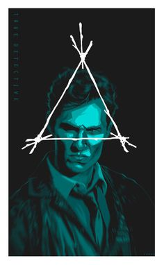 pulp flesh — folkhorror: True Detective poster art by ... #pagan #detective #horror #puzzle #triangle #poster #crime