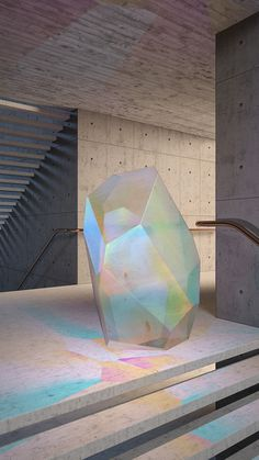 Crystal Series #concrete #3D #iridiscent #animation #architecture #colour #minimal #crystal