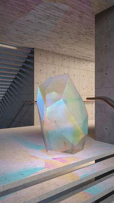 Crystal Series #concrete #3D #iridiscent #animation #architecture #colour #minimal #crystal