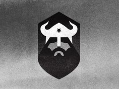 Ron Lewis / Brutal Brand #white #icon #black #and #logo #viking