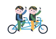 Ben Javens - Built for Two #illustration #character #bike