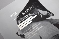 Vom Finden des richtigen Moments on the Behance Network #print #typography